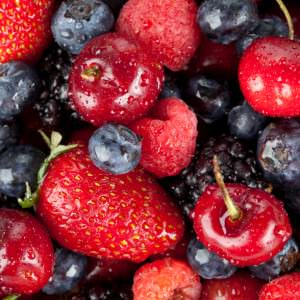 Close up image of fresh berry fruits